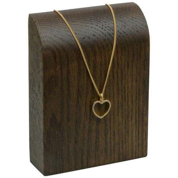 Halsje voor collier of ketting, mini Massief hout, donker gebeitst 90 x 120 x 30