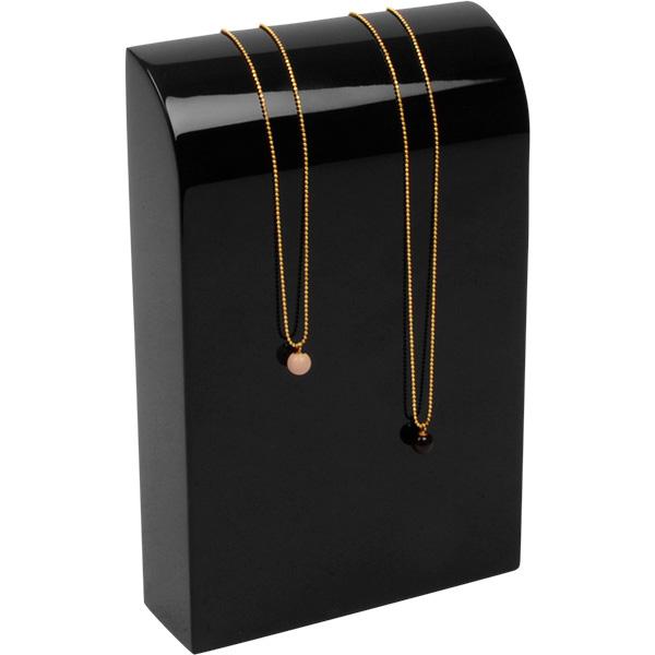 Présentoir à bijoux: Buste, taille M Bois laqué noir 110 x 170 x 35