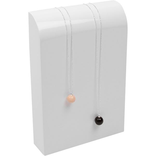Halsje voor collier of ketting, medium Hoogglans gelakt hout, wit 150 x 220 x 40