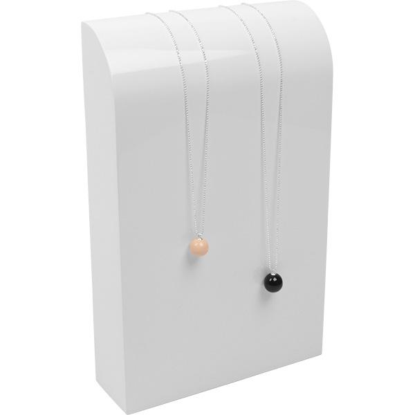 Halsje voor collier of ketting, groot Hoogglans gelakt hout, wit 170 x 270 x 50