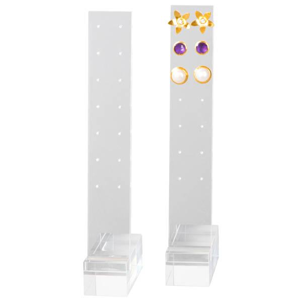 Présentoir à bijoux pour 7 paires de BO Plexi transparent 30 x 192 x 65