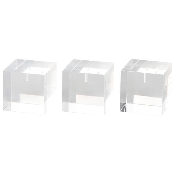 Display Multiblok, klein Transparant acryl 40 x 40 x 40