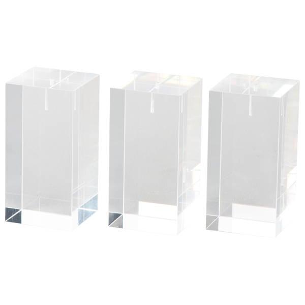 Display Multiblok, medium Transparant acryl 40 x 40 x 80