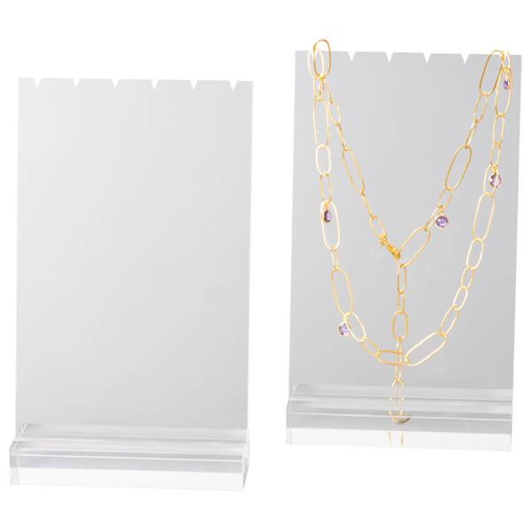 Display voor 3 Colliers/Kettingen, medium Transparant acryl 150 x 252 x 50