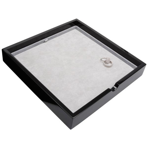 Tableau universeel Zwart hoogglans hout/ Grijze velours cartouches 241 x 241 x 38