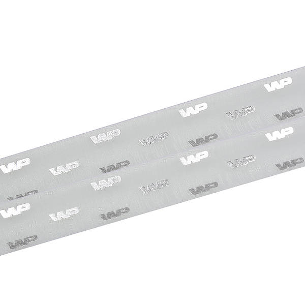 Organzalint met verheven logobedrukking Mintgroen  25 mm x 45,7 m