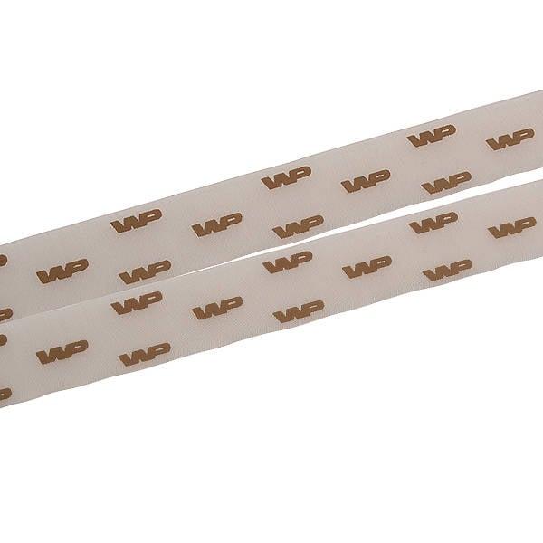 Ruban en organza personalisé, sérigrafie effet 3D Marron  25 mm x 45,7 m