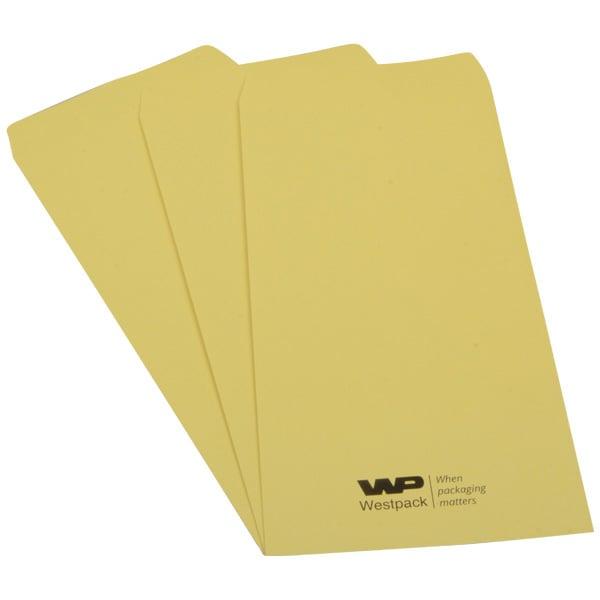 Reparatiezakje met logobedrukking Genummerd geel zakje met zwarte logobedrukking 110 x 240