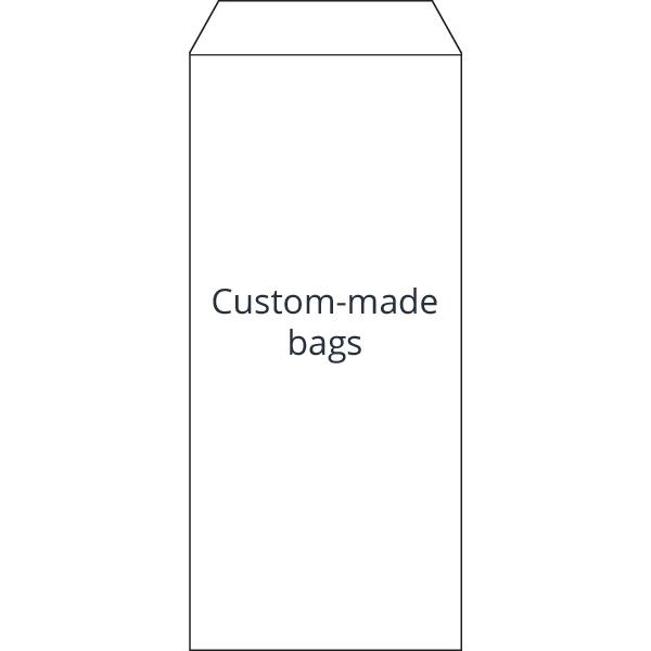 Reparatiezakje, bedrukt naar eigen ontwerp Wit zakje, met logo opdruk in 2 kleuren 110 x 240