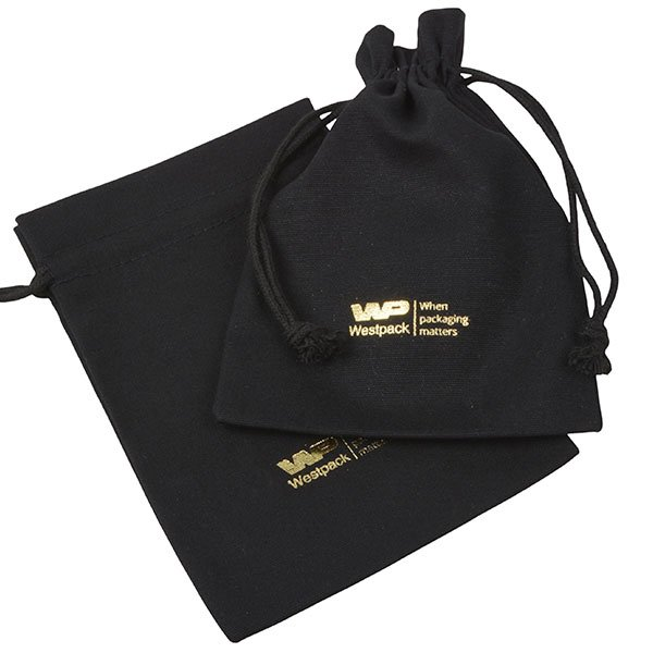 Linen Pouch, Medium Black 120 x 170