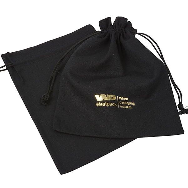 Linen Pouch, Large Black 180 x 240