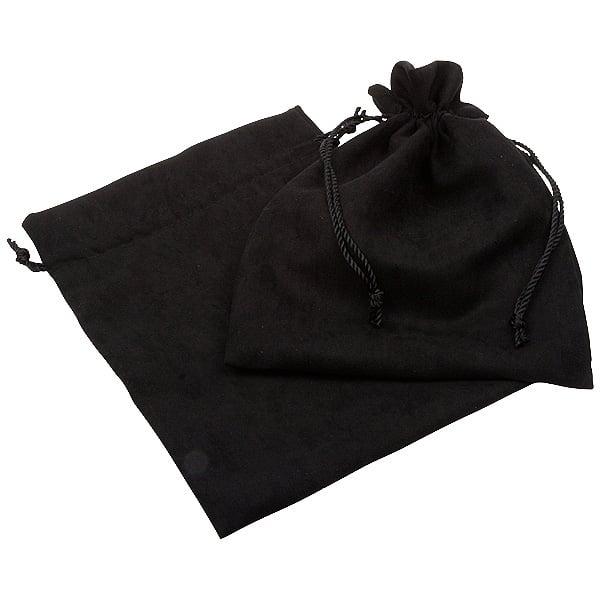 Kunstsuede sieradenzakje, groot Zwart 180 x 240