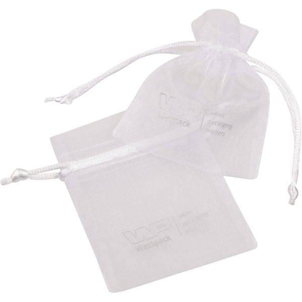 Grootverpakking Mini Organzazakje, logo op zakje Vit 70 x 90