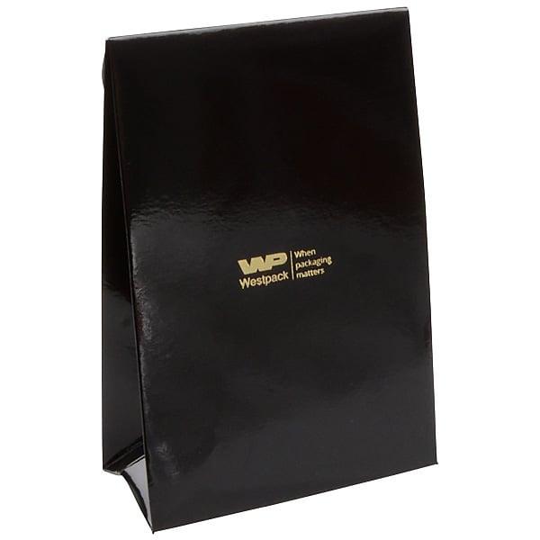 Glanzend cadeauzakje, klein Zwart 90 x 135 x 45