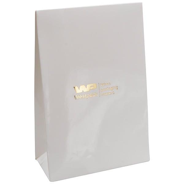 Sac cadeau brillant, petit format Blanc 90 x 135 x 45