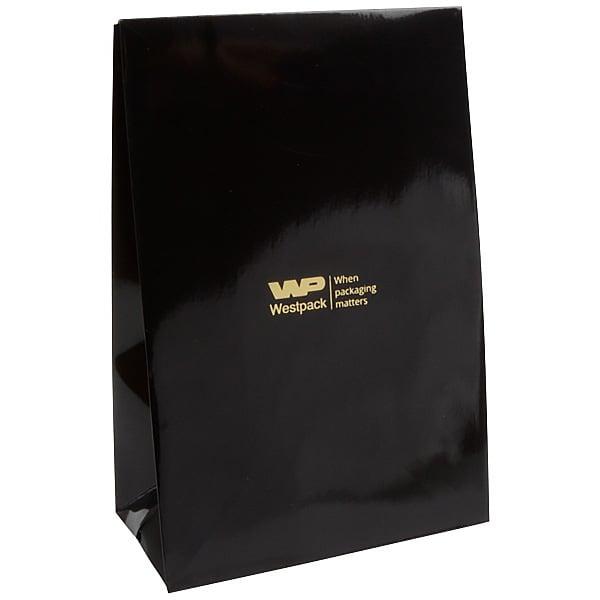 Sac cadeau brillant, grand format Noir 120 x 180 x 64