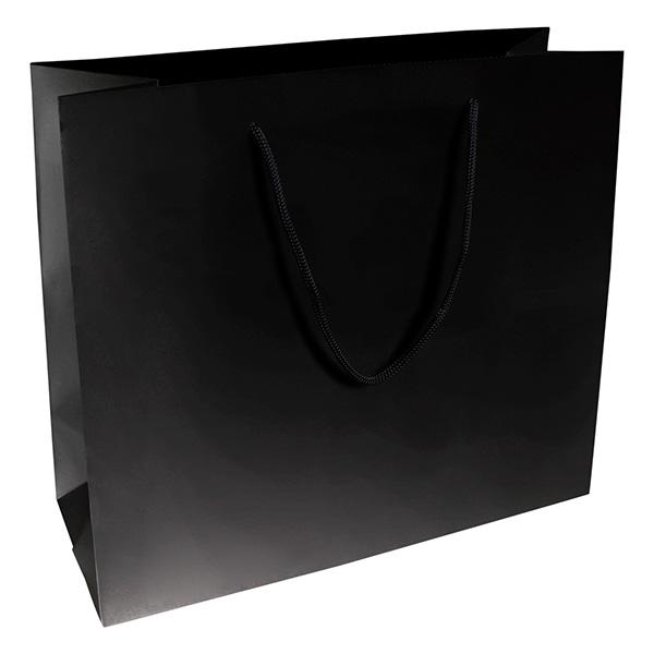 Grootverpakking: Draagtasje zonder coating, XL Mat Zwart Kraftpapier 280 x 250 x 115