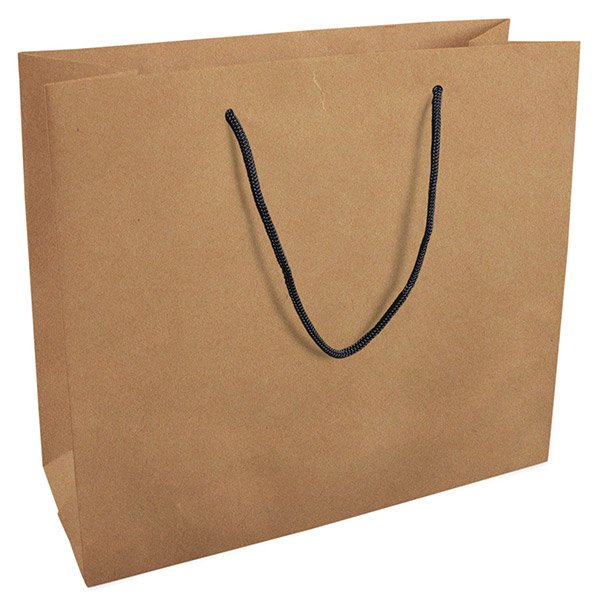Grootverpakking: Draagtasje zonder coating, XL Mat Naturel Kraftpapier 280 x 250 x 115