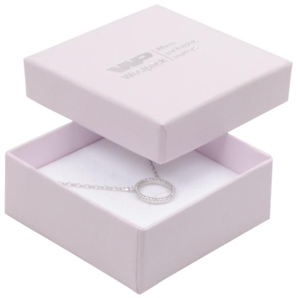Grootverpakking -  Boston doosje hanger/ broche Lichtroze Karton / Wit foam 65 x 65 x 25