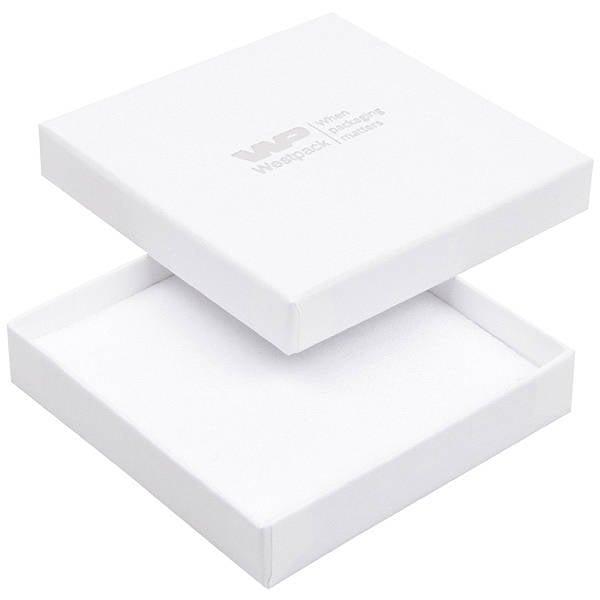 Achat en gros: Frankfurt écrin bracelet/ pendentif Carton blanc, aspect lin/ Intérieur mousse blanche 86 x 86 x 17