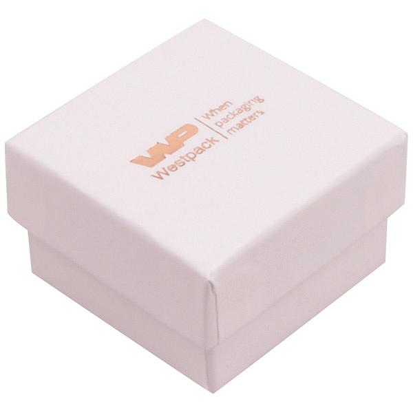 Grootverpakking -  Santiago doosje voor ring Lichtroze Karton / Wit foam 50 x 50 x 32