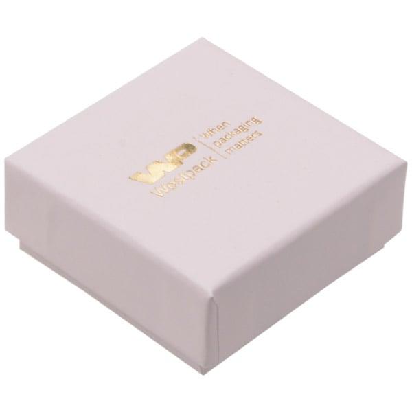 Grootverpakking -  Santiago doosje oorsieraden Lichtroze Karton / Wit foam 50 x 50 x 22