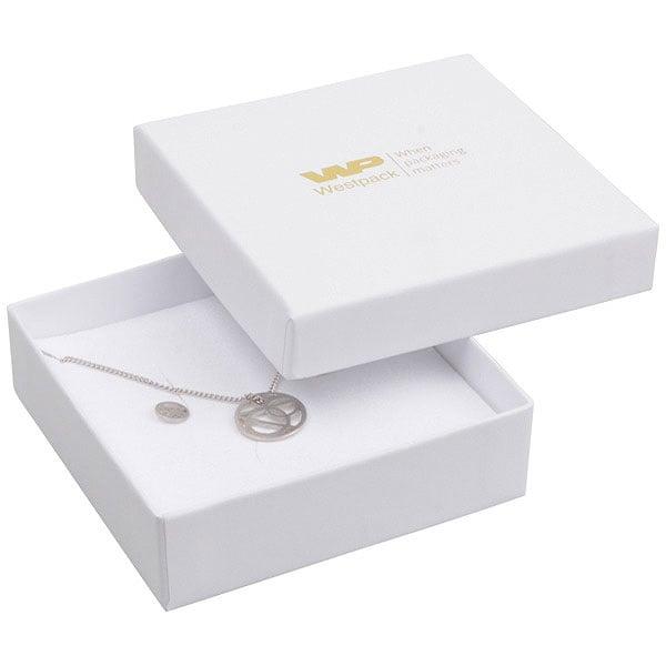 Grootverpakking -  Santiago doosje hanger/armband Wit Karton / Wit foam 86 x 86 x 26