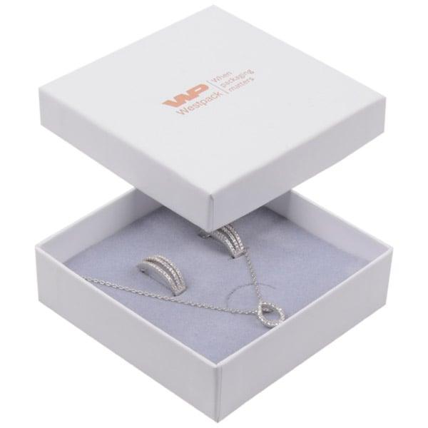 Achat en gros: Santiago écrin bracelet/ pendentif Carton blanc / Intérieur mousse grise 86 x 86 x 26