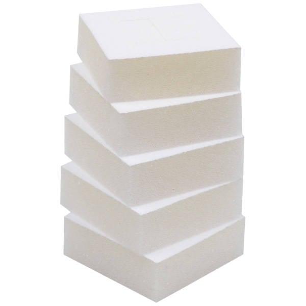 Grootverpakking: Foam insert voor ringendoosje Wit 44 x 44 x 7 0 027 000 / 0 018 000