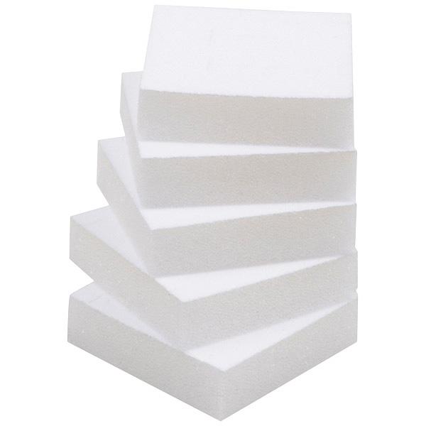 Grootverpakking: Foam insert voor oorbellendoosje Wit 40 x 40 x 10 0 027 002 / 0 018 002