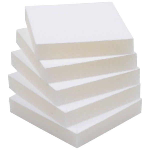 Grootverpakking: Foam insert voor hangerdoosje Wit 59 x 59 x 15 0 027 004 / 0 018 004