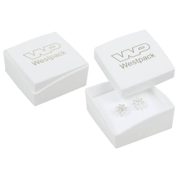 Grootverpakking -  Copenhagen doosje oorsieraden Witte deksel, witte bodem / Wit foam 43 x 43 x 20