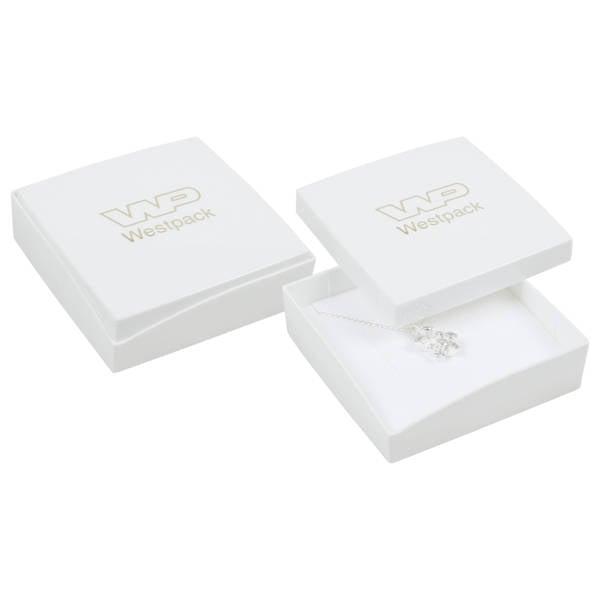 Achat en gros: Copenhagen écrin bracelet/pendentif Couvercle blanc, base blanche / Mousse blanche 80 x 80 x 24
