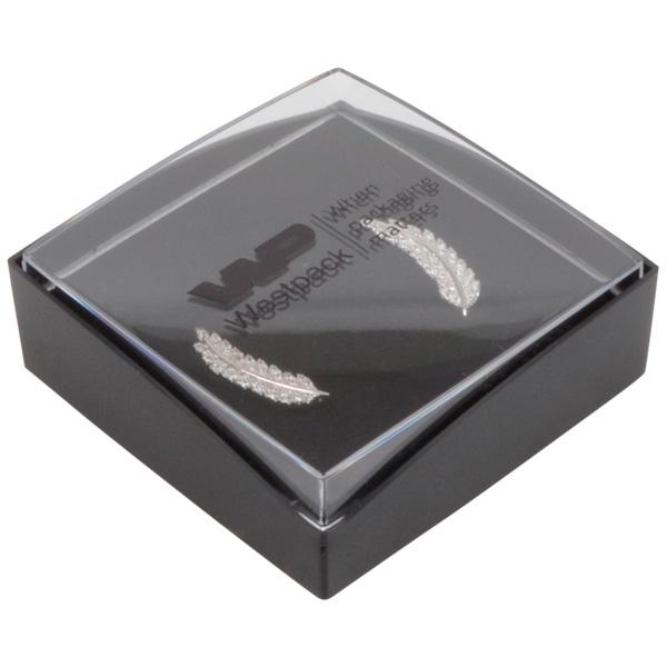 Achat en gros: Copenhagen Open écrin pendentif Couvercle transparent, base noire / Mousse noire 60 x 60 x 21