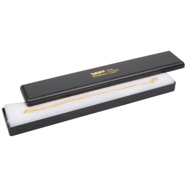 Achat en gros: Seville écrin pour bracelet Plastique noir / Intérieur ouate blanche 216 x 36 x 21