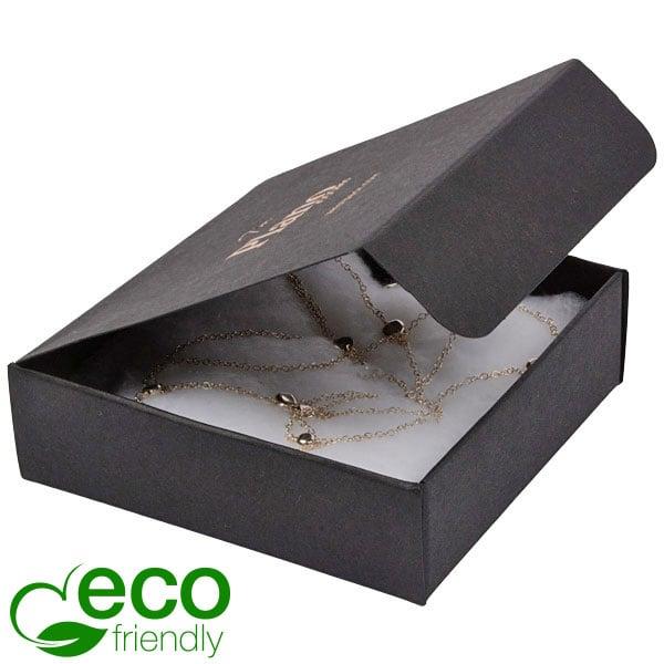 Plano 1000 ECO vouwbaar cadeaudoosje, 100 mm Mat zwart FSC®-gecertificeerd karton 100 x 100 x 30
