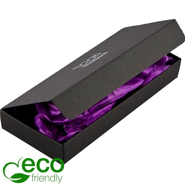 Plano 1000 ECO Boîte cadeau 2 cuillers à dessert Carton FSC®, noir 190 x 80 x 26