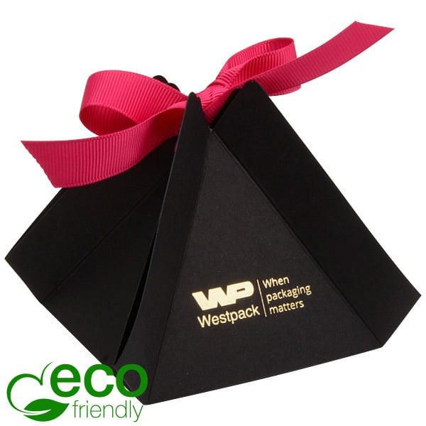 Cairo ECO Vouwdoosje voor sieraden, groot Mat zwart FSC®-gecertificeerd karton 80 x 80 x 85