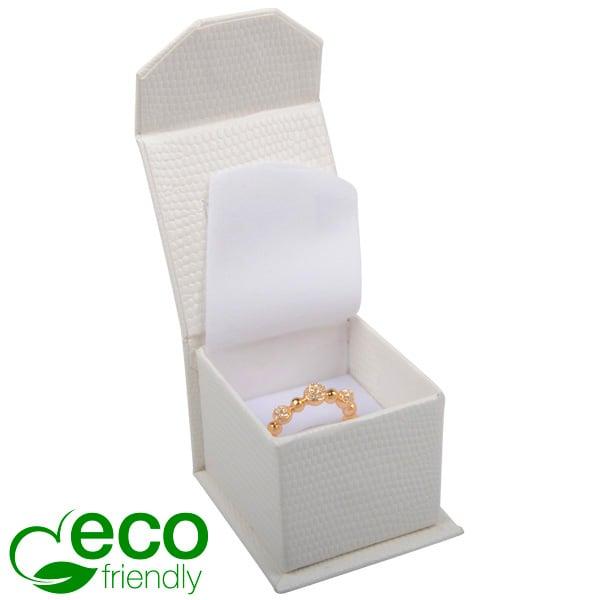 Nice ECO sieradendoosje voor ring Crèmekleurig kunstleer met slangenprint / Wit foam 47 x 52 x 39