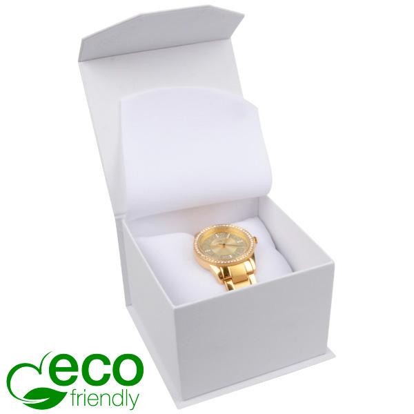 Milano ECO sieradendoosje voor horloge Wit Soft-Touch Karton / Wit foam 100 x 100 x 70