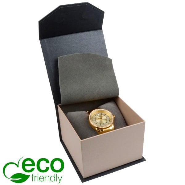 Milano ECO sieradendoosje voor horloge Pearl antraciet-zilver karton/ Antraciet interieur 100 x 100 x 70