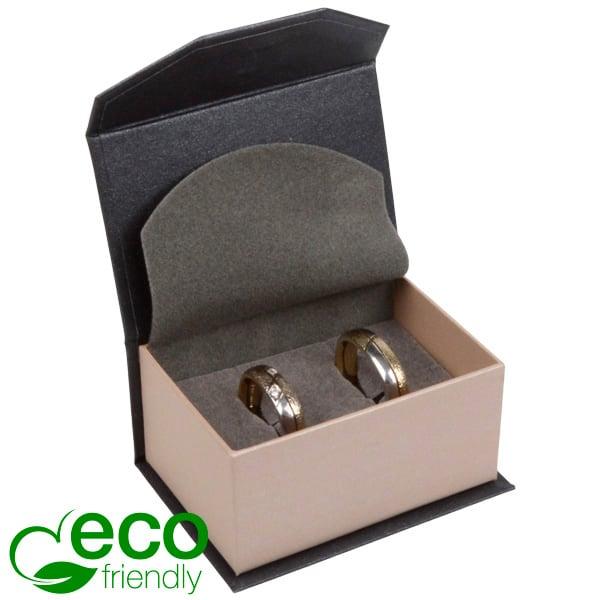 Milano ECO sieradendoosje trouwringen / manchetkn. Pearl antraciet-zilver karton/ Antraciet foam 67 x 46 x 35