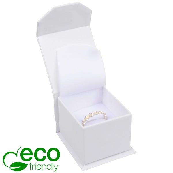Milano ECO sieradendoosje voor ring Wit Soft-Touch Karton / Wit foam 47 x 52 x 39