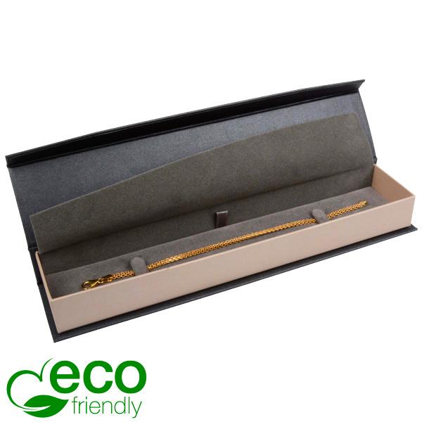 Milano ECO sieradendoosje voor armband Pearl antraciet-zilver karton/ Antraciet interieur 227 x 50 x 26