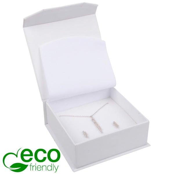 Milano ECO sieradendoosje armring / hanger Wit Soft-Touch Karton / Wit foam 85 x 81 x 32
