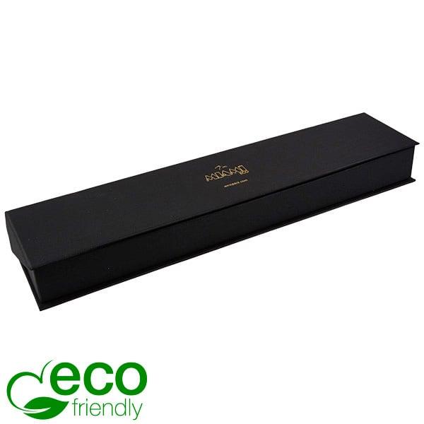 Miami ECO écrin plat pour montre Carton noir, texture de bougran/ Mousse noir 265 x 58 x 30