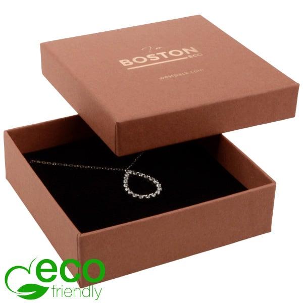 Boston Eco - Ecrin collier G.M. / bracelet Terre cuite / Mousse noire 86 x 86 x 26