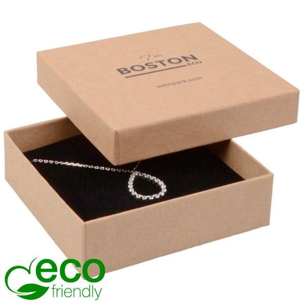 Boston Eco - Ecrin collier G.M. / bracelet Natur / Mousse noire 86 x 86 x 26