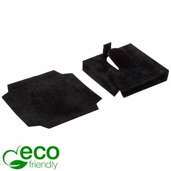 ECO Interieur voor een ring Zwart karton met zwart velours toplaag 44 x 44 x 7