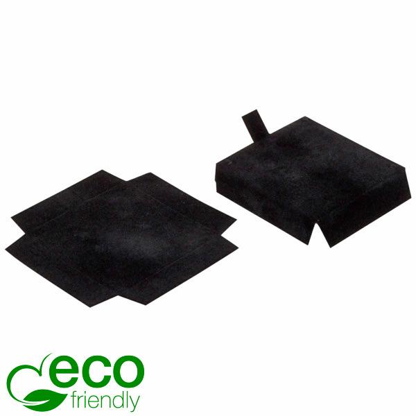 ECO Interieur voor oorbellen/ oorstekers Zwart karton met zwart velours toplaag 44 x 44 x 10